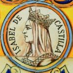 Tiles depicting Isabel de Castilla at the Plaza de España in Sevilla, Spain