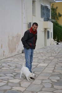 Alan in Syros, Greece