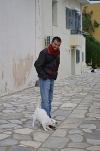 Alan in Syros, Greece