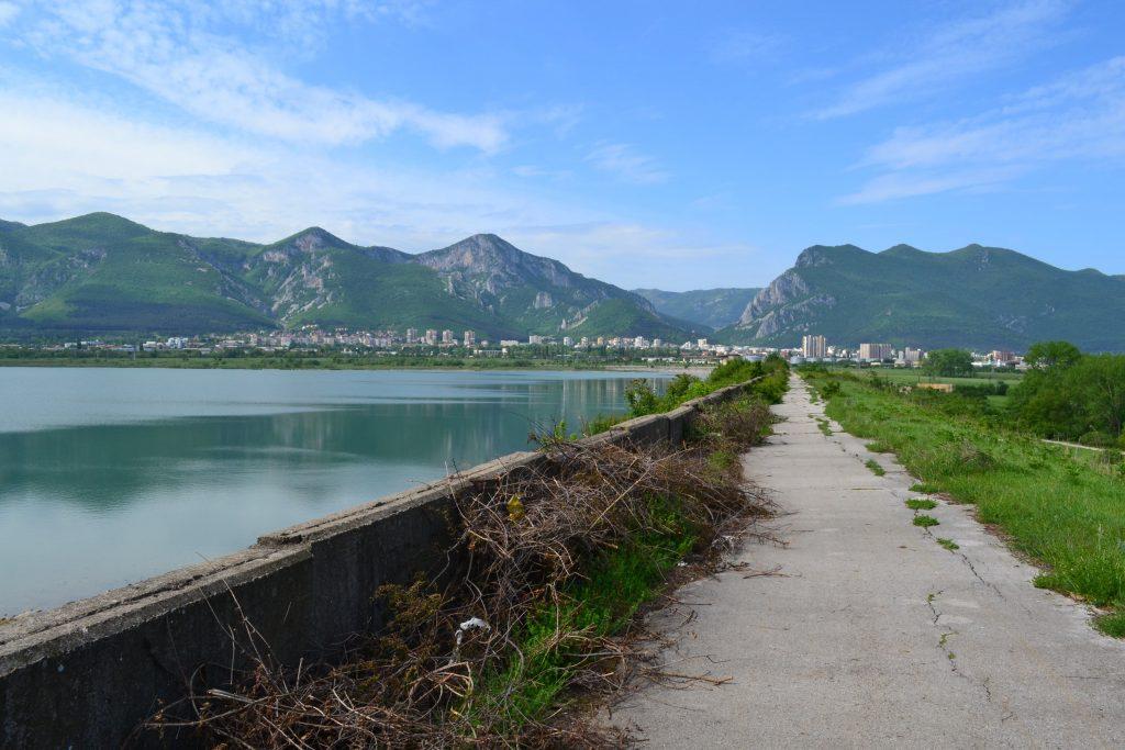 The city of Vratsa below the Balkan mountain