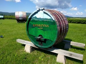 Old wine barrel at Katarzyna Estate
